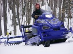 ABR Grooming Snowmobile Review ABR Trails - Alpina sherpa