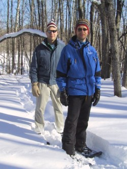 Dedicated snowshoe trails