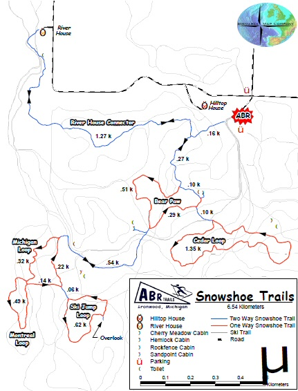 Snowshoe Map - Click for PDF