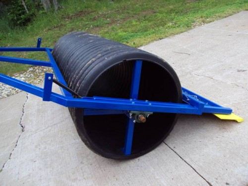 6 ½ foot roller (24 inch ID diameter) shown with compactor