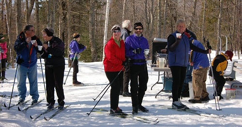 Skiers enjoy the Taste of Trails event