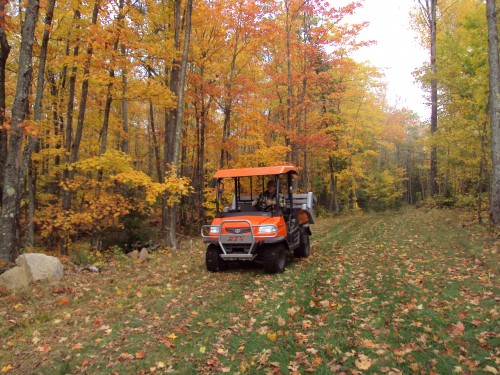 Trail work with fall colors Oct 8th, 2009