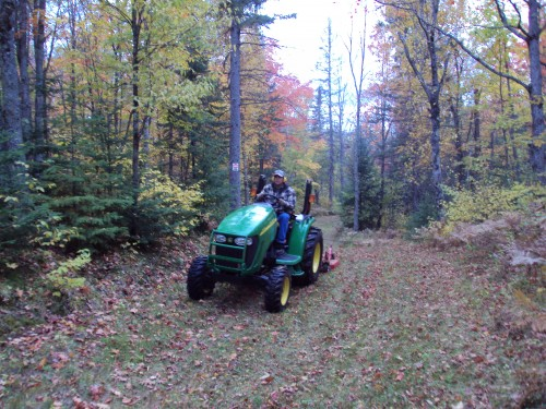 Fall mowing before the snow