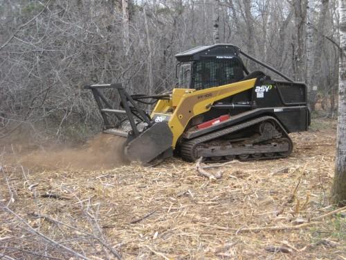 Brush mulching
