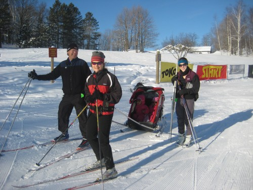 Pete and Clare and family headed out for a ski