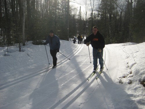 Skiing with the Clydedales