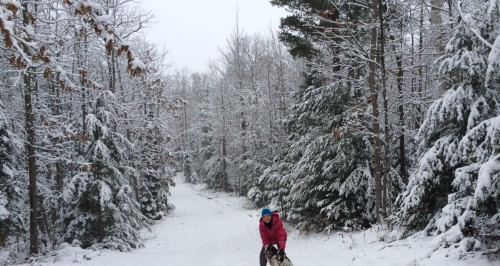 angela-on-the-river-trail-with-darla